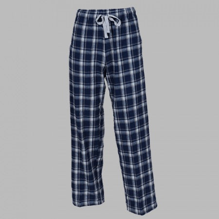 GUYS & CO. - Men's Heritage Navy Plaid Flannel Pants (6150191579288)