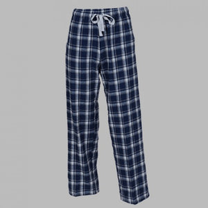 GUYS & CO. - Men's Heritage Navy Plaid Flannel Pants