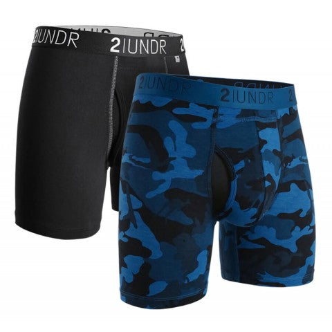 2UNDR - Swing Shift Boxer Brief Night Camo 2 Pack - Guys and Co.