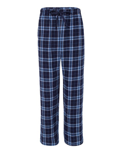 GUYS & CO. - Men's Navy/Columbia Plaid Flannel Pants
