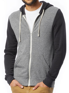 ALTERNATIVE APP - Rocky Color-Block Eco-Fleece Zip Hoodie