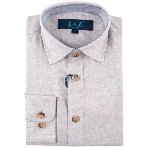 LEO & ZACHARY - Boys Dress Shirt Chambray Cloud 5780 - Guys and Co.