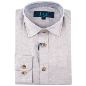 LEO & ZACHARY - Boys Dress Shirt Chambray Cloud 5780 - Guys and Co. (5478494339224)