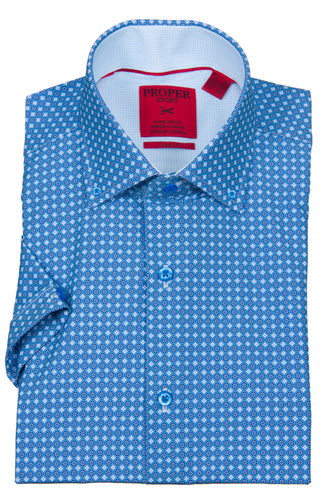 PROPER SPORT - 4-way Stretch Men's Short Sleeve Sport Shirt S656 - Guys and Co. (5401974603928)