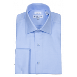 MODENA - Men's Blue Dress Shirt (6198020374680)
