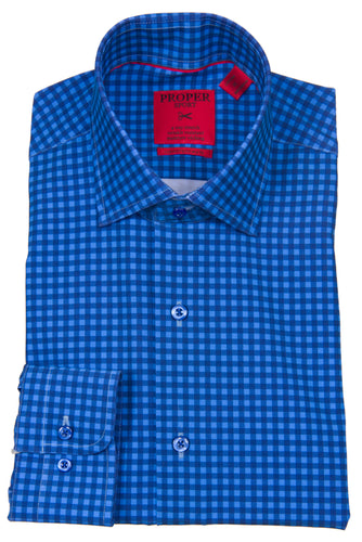 PROPER SPORT - 4-way Stretch Men's  Long Sleeve Sport Shirt S690LS - Guys and Co.