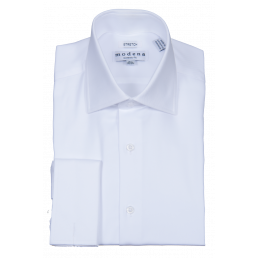 MODENA - Men's White Dress Shirt (6198020309144)