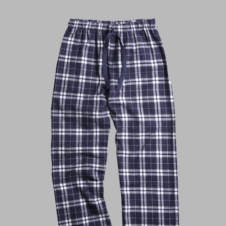 GUYS & CO. - Men's Navy/Silver Plaid Flannel Pants (6197981872280)