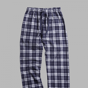 GUYS & CO. - Men's Navy/Silver Plaid Flannel Pants
