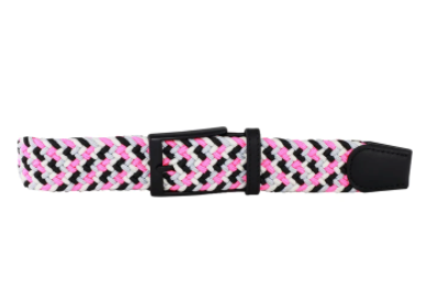 DIBI - Black, White, Neon Pink, & Silver Elastic Belt BLT-001 - Guys and Co. (5485174096024)