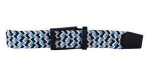 DIBI -Black, White, Neon Blue, & Silver Elastic Belt  BLT-002 - Guys and Co.