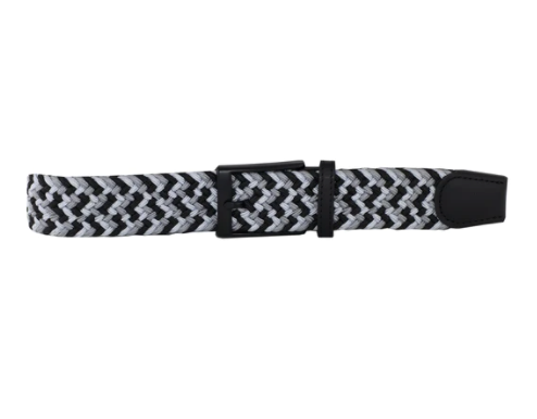 DIBI - Charcoal, Silver, & Black Elastic Belt BLT-014 - Guys and Co.
