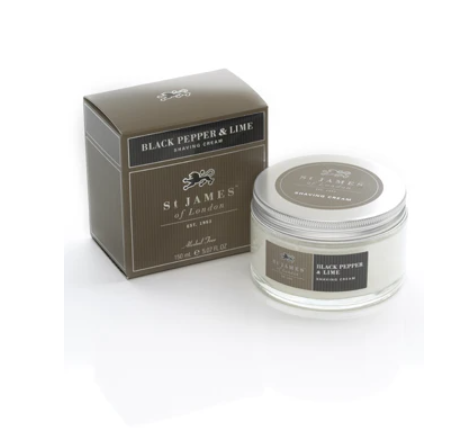ST. JAMES OF LONDON - Black Pepper & Lime Post Shave Cream Jar - Guys and Co.