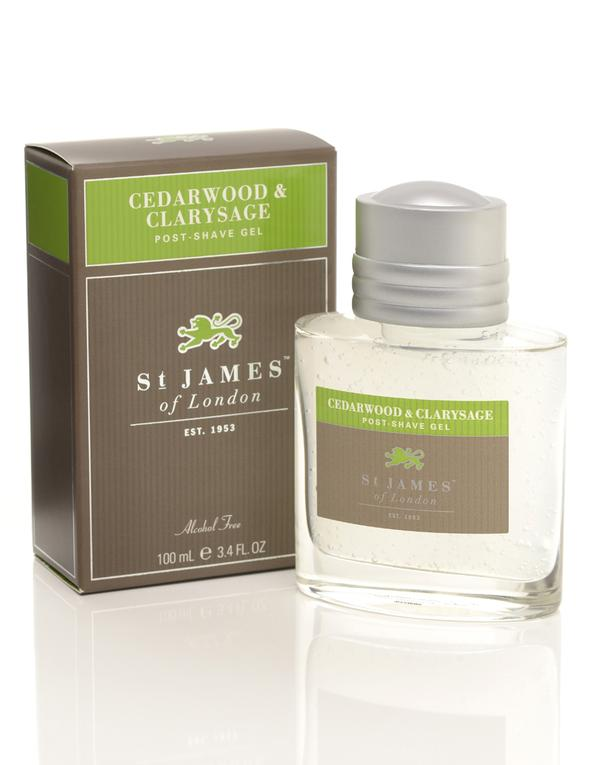 ST. JAMES OF LONDON -  Cedarwood & Clarysage Post-Shave Gel - Guys and Co.