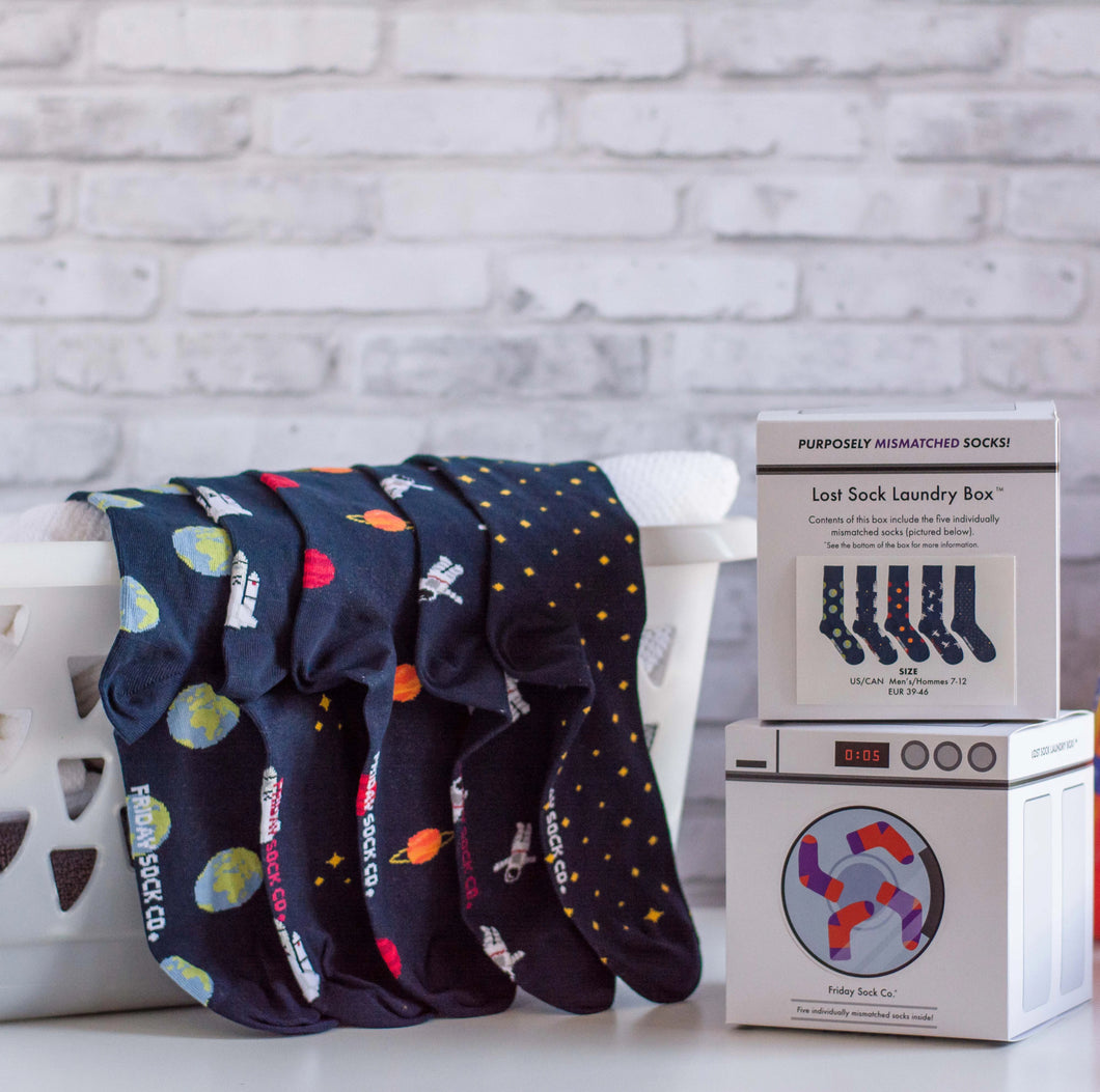 FRIDAY SOCK CO. - Men's Space Lost Sock Laundry Box (6034369413272)