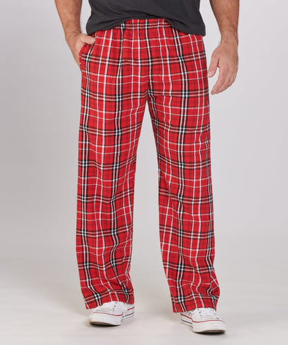 GUYS & CO. - Men's Red/ White Plaid Flannel Pants (6230000402584)