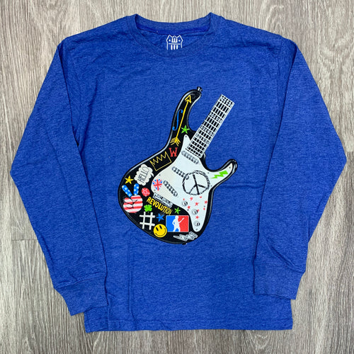 WES & WILLY - Boy's Guitar Blue Moon Tee - Guys and Co.