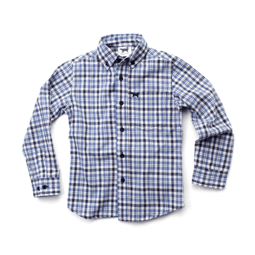 WES & WILLY - Blue Plaid Shirt - Guys and Co. (5996293259416)