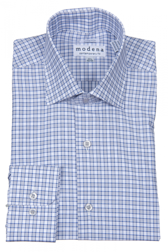 MODENA - Men's Dress Shirt Blue M859 - Guys and Co.
