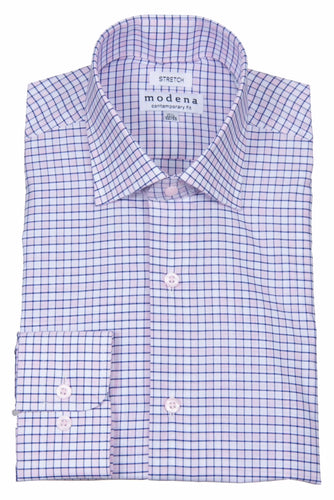 MODENA - Men's Dress Shirt Pink M859 - Guys and Co.
