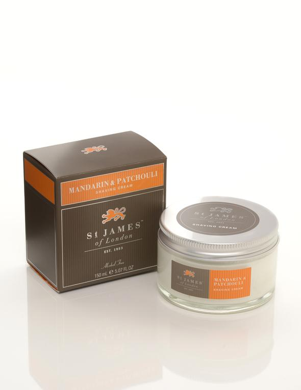 ST. JAMES OF LONDON - Mandarin & Patchouli Shave Cream Jar - Guys and Co.