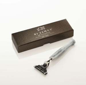 ST. JAMES OF LONDON - Cheeky B'stard Mach III Razor: Ebony - Guys and Co.