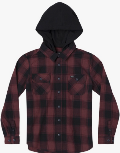 RVCA - Boy's Replacement Long Sleeve Flannel Button Down Shirt - Guys and Co. (5996399296664)