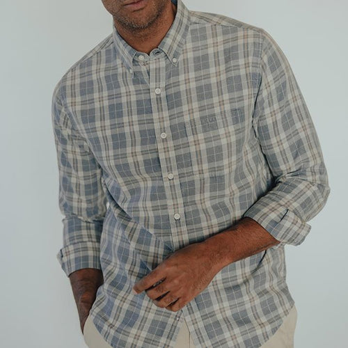 THE NORMAL BRAND - Midcoast Button Down Shirt - Guys and Co. (5633155465368)