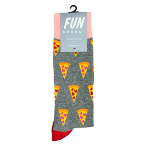 FUN SOCKS - Valentine's Day Pizza Socks (6270540775576)