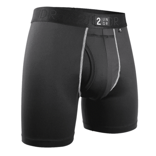 2UNDR - Power Shift Boxer Brief: Black - Guys and Co.