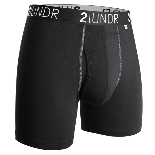 2UNDR - Swing Shift Boxer Brief: Black/Grey - Guys and Co.