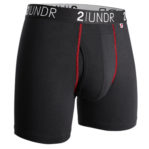 2UNDR - Swing Shift Boxer Brief: Black/Red - Guys and Co.
