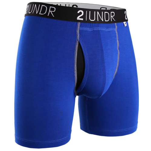 2UNDR - Swing Shift Boxer Brief: Blue/Blue - Guys and Co.