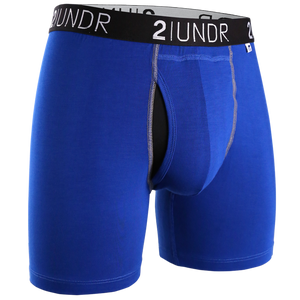 2UNDR - Swing Shift Boxer Brief: Blue/Blue - Guys and Co. (4991810076812)
