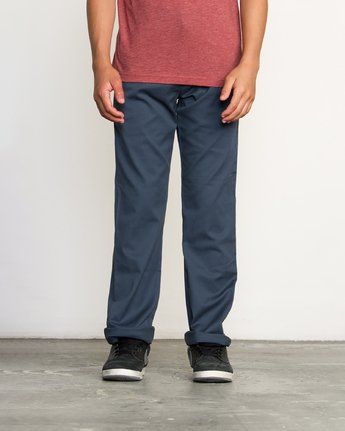 RVCA - Boys Weekday Stretch Straight Fit Pant
