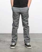 Load image into Gallery viewer, RVCA - Boys Weekday Stretch Straight Fit Pant