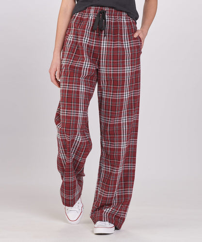 GUYS & CO - Boy's Maroon Plaid Flannel Pant (6034369970328)