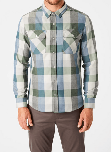 7 DIAMONDS - Colt Double Pocket Flannel Shirt (6124596953240)