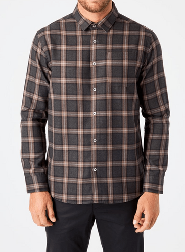 7 DIAMONDS - River Single Pocket Flannel Shirt (6124596854936)