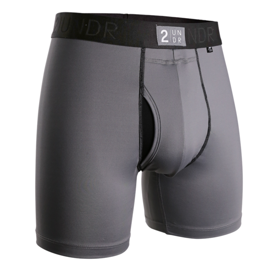 2UNDR - Power Shift Boxer Brief: Cool Grey - Guys and Co. (4991809454220)