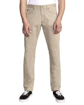 RVCA - Daggers Slim Fit Twill Pant - Guys and Co. (5996399493272)