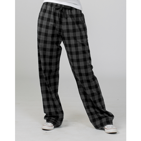 GUYS & CO. - Men's Char/blk Buffalo Check Flannel Pants - Guys and Co.