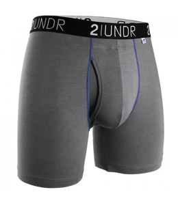 2UNDR - Swing Shift Boxer Brief: Grey/Blue - Guys and Co. (4991809323148)