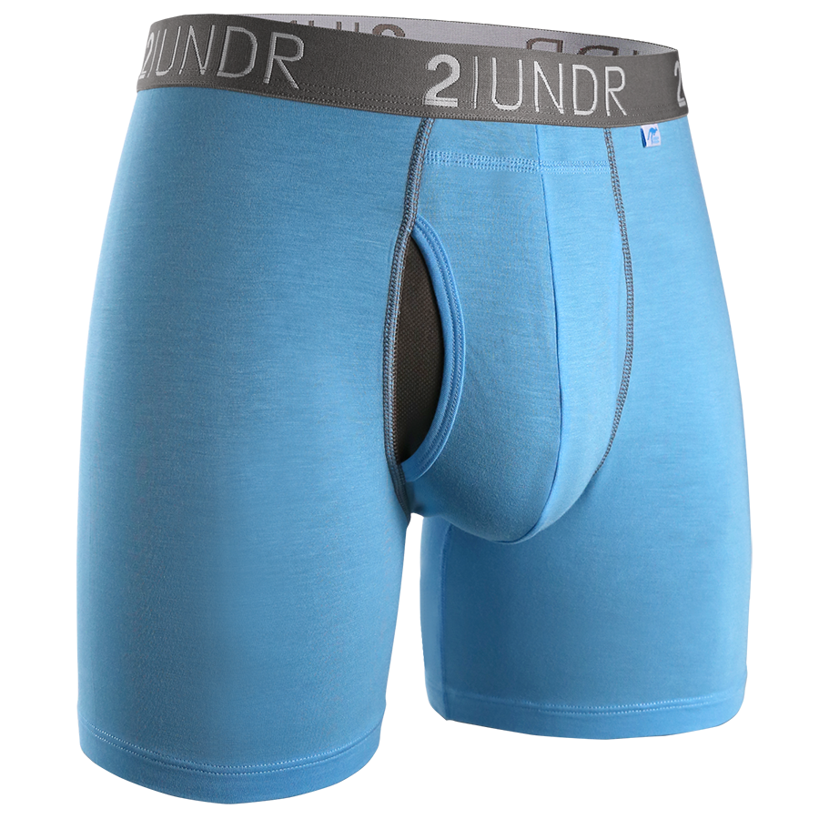 2UNDR - Swing Shift Boxer Brief: Lt. Blue - Guys and Co.