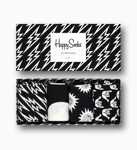 HAPPY SOCKS - Black & White Gift Box - Guys and Co.
