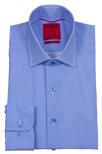 PROPER SPORT - 4-way Stretch Men's Long Sleeve Sport Shirt S114 - Guys and Co. (5422597472408)