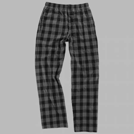 GUYS & CO. -  Boy's Charcoal / Black Buffalo Check Flannel Pants - Guys and Co. (5909848752280)