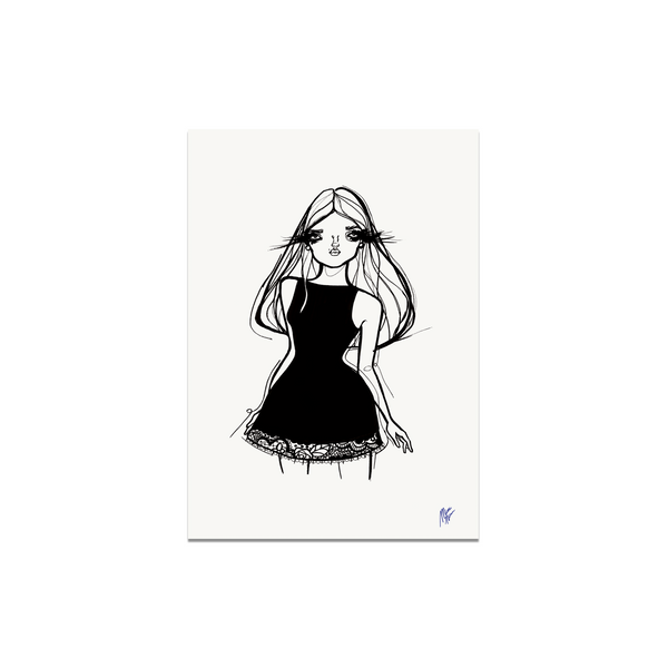 Postcard - Little Black Dress