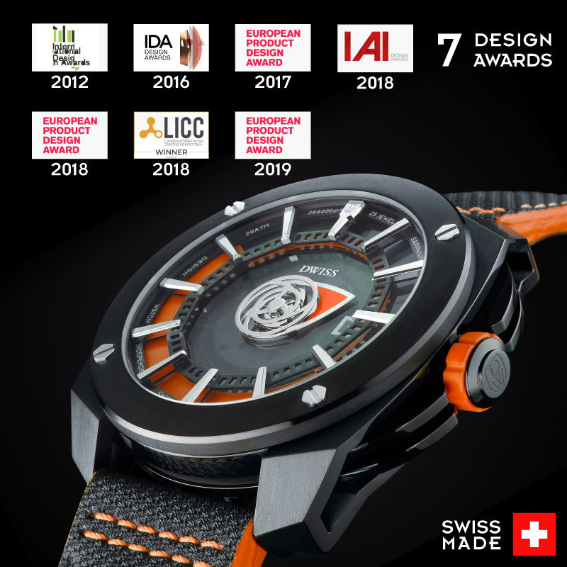 Design awarded limited edition Swiss made timepieces by DWISS