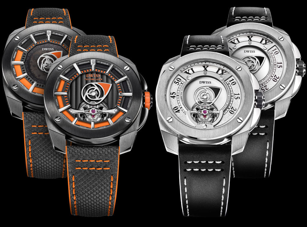 DWISS R1 collection. Tourbillon, automatics, mechanical and quartz